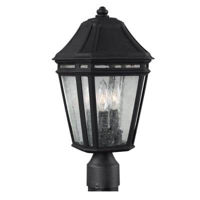 Londontowne 3-Light Black Outdoor 14 in. Post Top Light