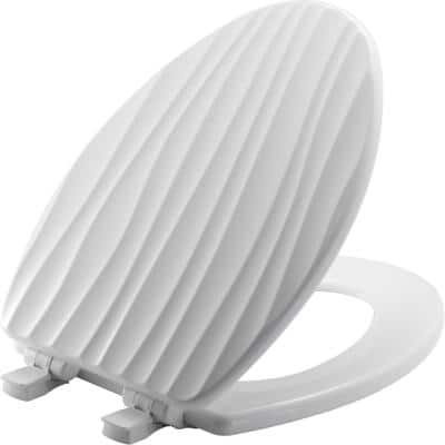 STA-TITE Slow Close Lift-Off Sculptured Elongated Closed Front Toilet Seat in White