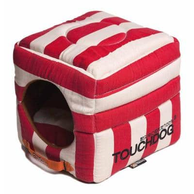 Squared 2-in-1 Collapsible One-Size Red and White Bed