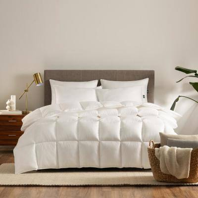 Down Illusion All Season White King/California King Down Alternative Comforter