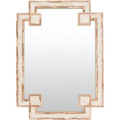 Medium Rectangle Ivory Casual Mirror (37.8 in. H x 28 in. W)
