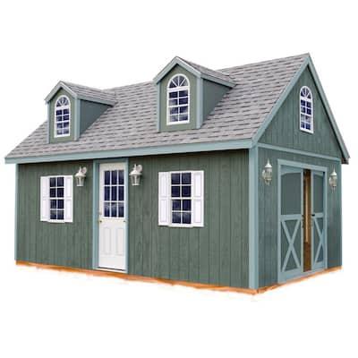Arlington 12 ft. x 24 ft. Wood Storage Shed Kit