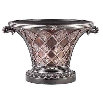 Brown Cobre Antique Polyresin Decorative Bowl