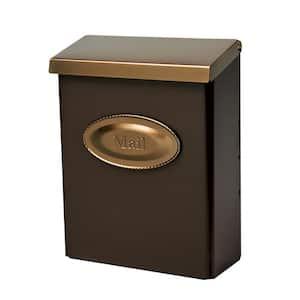 Designer Medium, Vertical, Wall Mount, Locking Mailbox, Venetian Bronze