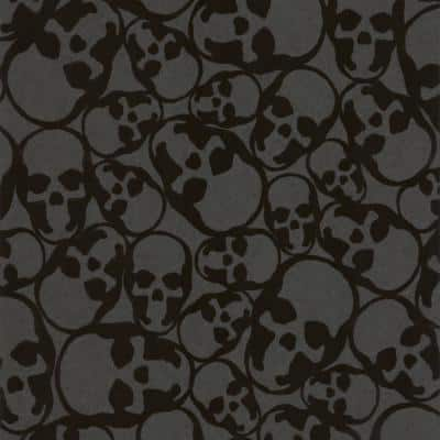 Black Paper Non-Pasted Wallpaper Roll (Covers 56 Sq. Ft.)