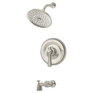 Degas Single Handle 1-Spray Tub and Shower Faucet Trim in Satin Nickel - 1.5 GPM (Valve not Included)