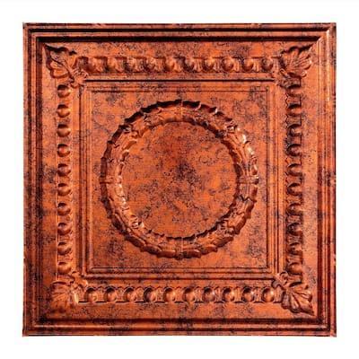 Rosette 2 ft. x 2 ft. Moonstone Copper Lay-In Vinyl Ceiling Tile (20 sq. ft.)