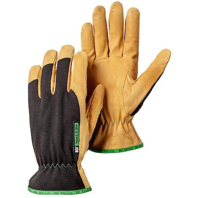 Golden Kobolt Size 6 Tan/Black Leather Gloves