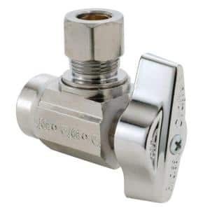 1/2 in. Sweat Inlet x 3/8 in. Compression Outlet 1/4-Turn Angle Ball Valve