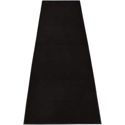 Euro Solid Black 36 in. Width x Your Choice Length Custom Size Runner Rug