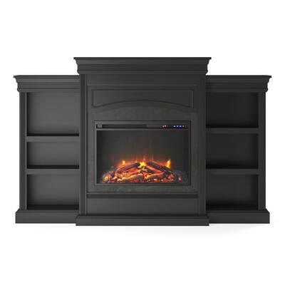 Robinside Black Mantel Fireplace