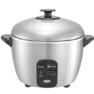 3-Cup Stainless Steel Rice Cooker