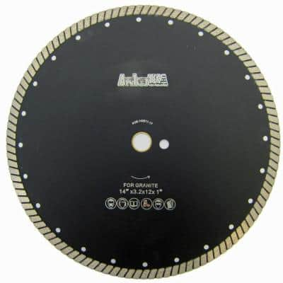 14 in. Wide Turbo Diamond Blade for Stone and Masonry Cutting
