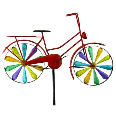 51 in. Metal Rainbow Bike Spinner
