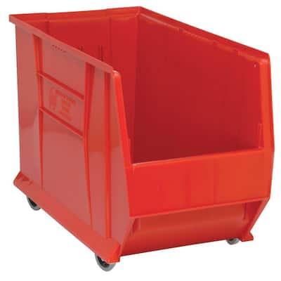 30 in. Quantum Hulk Mobile 33 Gal. Storage Tote in Red (1-Pack)