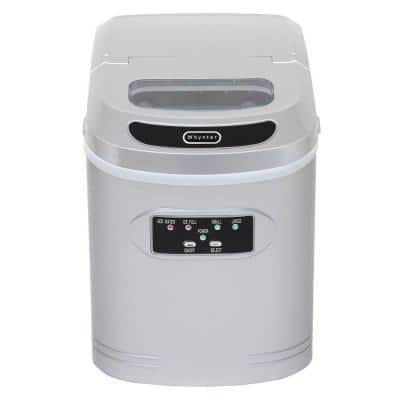 27 lb. Compact Portable Ice Maker in Silver