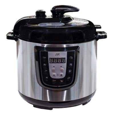 6 Qt. Stainless Steel Electric Pressure Cooker with Built-In Timer