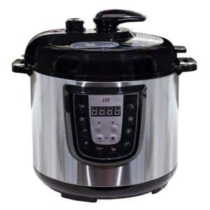6 qt. Stainless Steel Electric Pressure Cooker with Built-In Timer and Stainless Steel Pot