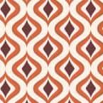Trippy Orange Vinyl Strippable Wallpaper (Covers 56 sq. ft.)
