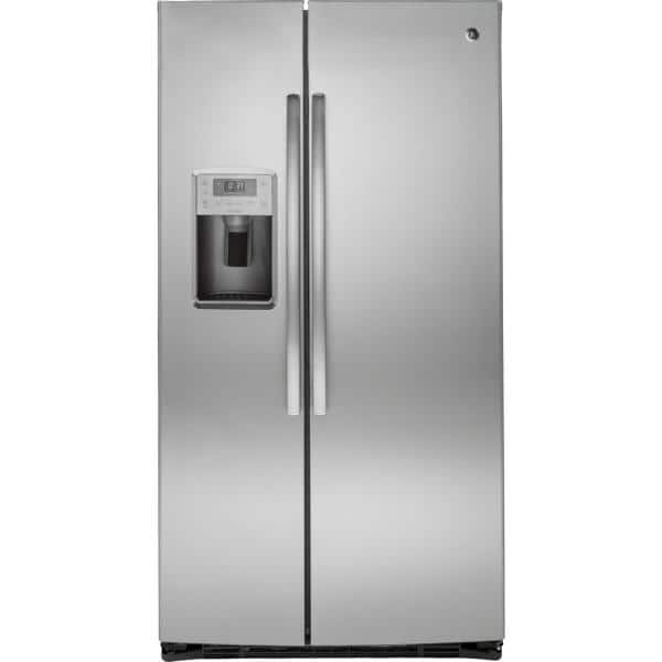 GE Profile 25.3 cu. ft. Side by Side Refrigerator in Stainless Steel,  ENERGY STAR-PSE25KSHSS - The Home Depot | Ge Profile Arctica Wiring Diagram |  | The Home Depot
