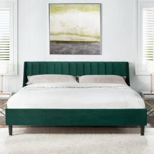 Aspen Evergreen King Upholstered Bed