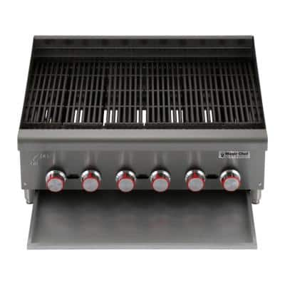 48 in. Commercial Countertop Radiant Char Broiler