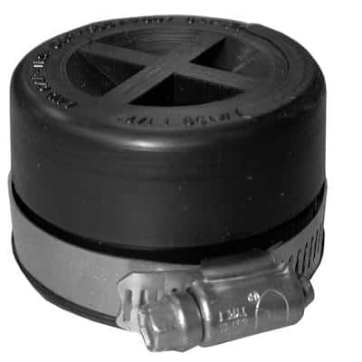6 in. Flexible PVC Standard Test Cap for Cast Iron and Plastic Pipe