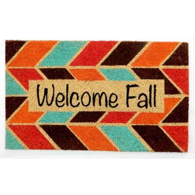 Welcome Fall Doormat 18 in. x 30 in. Coir Door Mat