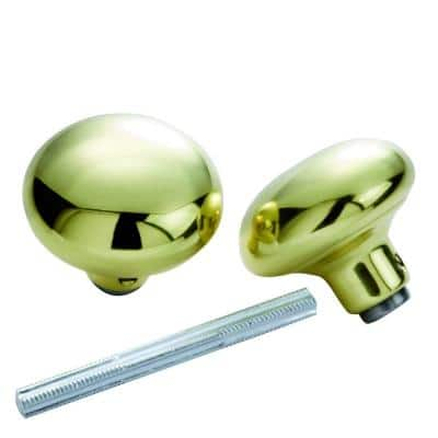 Solid Brass Knob Set with Spindle