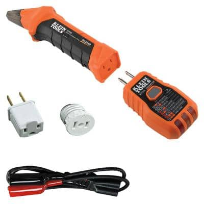 Digital Circuit Breaker Finder with GFCI Outlet Tester and Accessory Kit