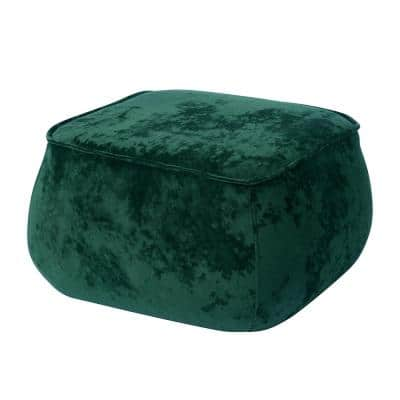 Emerald Green Velvet  Footstool with solid wood legs in 3 colours furniture