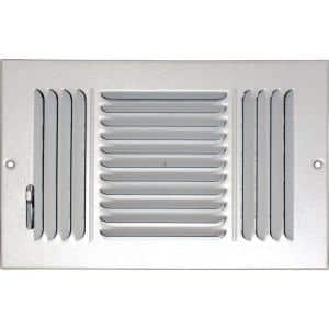 12 in. x 6 in. Ceiling/Sidewall Vent Register, White with 3-Way Deflection
