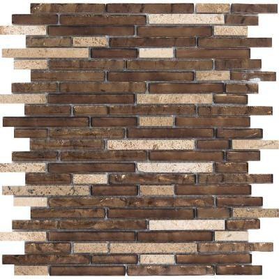 Vista Sight Glossy 12.01 in. x 13.23 in. x 8mm Glass Mesh-Mounted Mosaic Tile (1.1 sq. ft.)