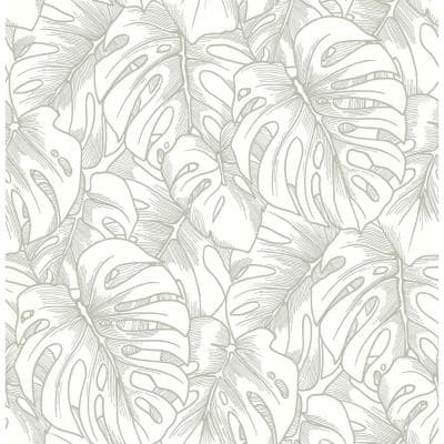 Balboa Silver BoTanical Silver Paper Strippable Roll (Covers 56.4 sq. ft.)