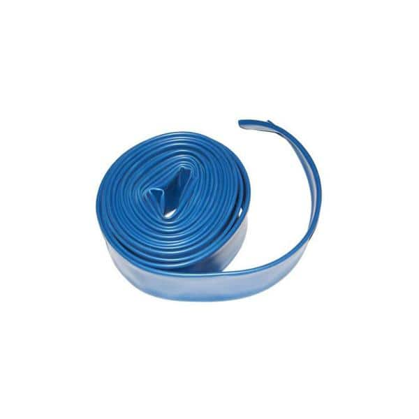 Plastiflex 1 5 In X 25 Ft Blue Swimming Pool Backwash Hose Le532112025ps The Home Depot