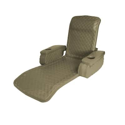 Bronze Folding Baja Floating Swimming Pool Water Lounger Chair