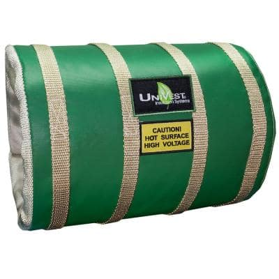UniVest Insulation Jacket High Temperature 43 in. L x 16 in. W x 1 in. H Insulation Wrap - R 0.48