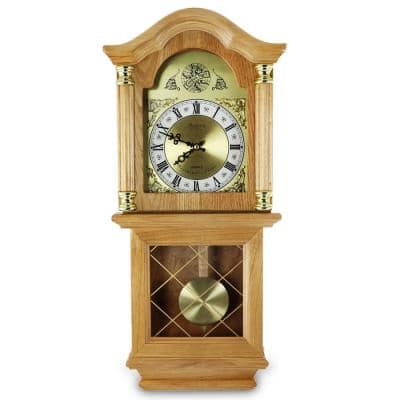 Classic 26 in. Golden Oak Wall Clock