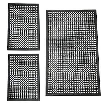 Industrial Rubber Mat Set (3-Piece)