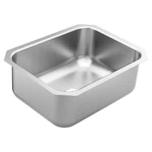 1800 Series Stainless Steel 23.5 in. Single Bowl Undermount Kitchen Sink with 9 in. Depth