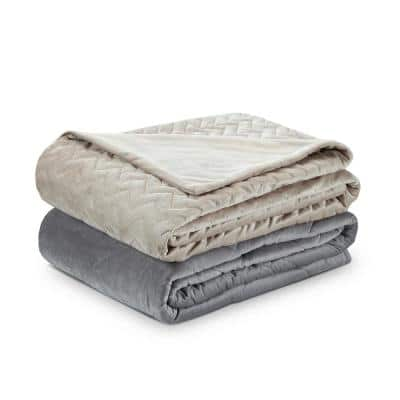 Fabumi Taupe 60 in. x 80 in. 20 lbs. Weighted Blanket