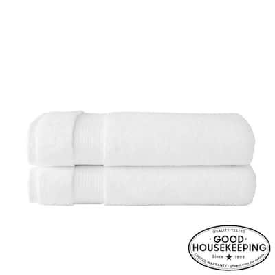 Egyptian Cotton Bath Sheet in White (Set of 2)
