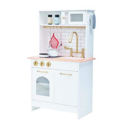 Teamson - Kids Little Chef Boston Modern Play Kitchen - White/Wood