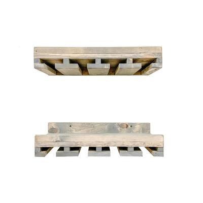 Rustic Luxe 20 in. Gray Stemware Shelves (Set of 2)