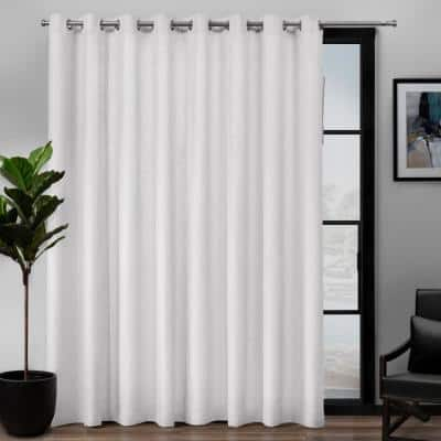 Winter White Linen Grommet Room Darkening Curtain - 108 in. W x 84 in. L