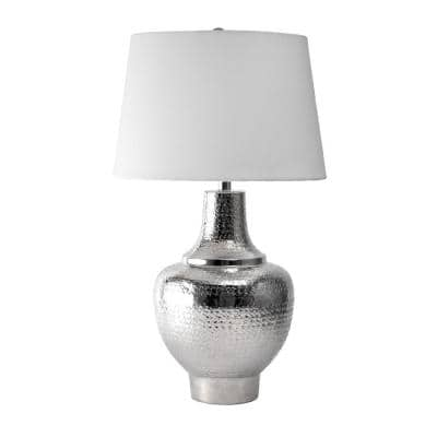 Monte 29 in. Nickel Modern Table Lamp, Dimmable
