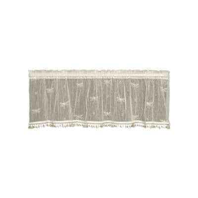 Dragonfly 15 in. L Polyester Valance in Ecru