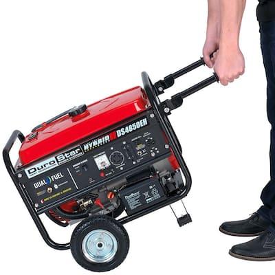 4850-Watt/3850-Watt Dual Fuel Hybrid Propane/Electric Start Gasoline Powered Portable Generator