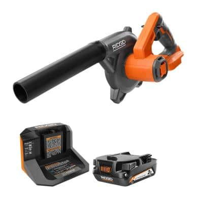18V Compact Cordless Blower Kit with (1) 2.0 Ah Battery and Charger