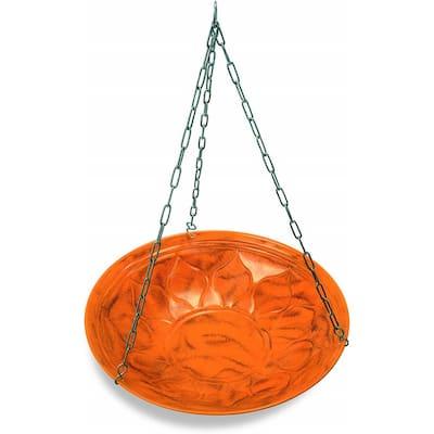 Monarch Sunset Orange Oasis Hanging Bird Bath/Bird Feeder Garden Decor